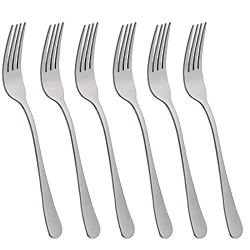Various 6 Tenedores de Mesa Acero INOX y Acabado Brillante. Colección Minimal (Tenedor de Mesa)