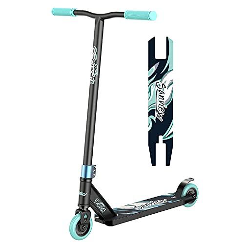 Sanview Pro Stunt Scooter Trick Freestyle - Patinete para niños, adolescentes y adultos, color azul