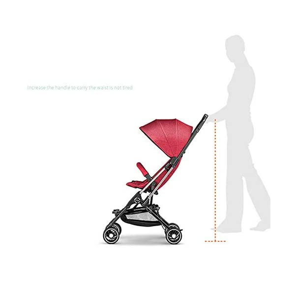 JXCC Baby Stroller Ultra Light Folding Child Shock Absorber Trolley Can Sit Half Lying 6 months-3 years old,25kg maximum -Safe And Stylish Red JXCC 1. {Four seasons are all} - Three sides of the net design, the awning can be adjusted at multiple angles, easy to cope with the sun 2. {Lightweight capsule car} - Weighs only 4.9kg, diamond car, can be on the plane, comfort zone baby 3. {3D Stereo Vibration} - X-frame design, evenly dispersing the upper weight, front wheel built-in suspension, rear wheel frame suspension 8
