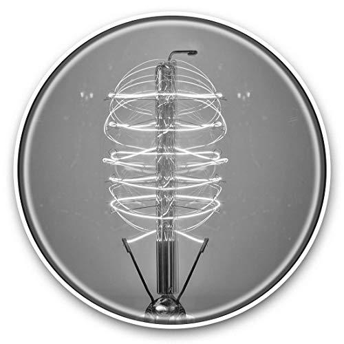 Fantastici adesivi in vinile (set di 2) 25 cm bw – Edison lampadina Steampunk retrò divertenti decalcomanie per computer portatili, tablet, bagagli, prenotazione di rottami, frigoriferi, regalo cool #42077