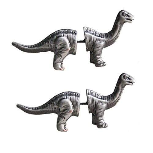 Tabwing Cute Dinosaur Piercing Stud Earrings (Silver)