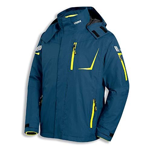 Uvex Metal 3-in-1 Herren-Arbeitsjacke - Blau-Gelbe Männer-Wetterjacke - Atmungsaktiv - Wind- & Wasserdicht XL