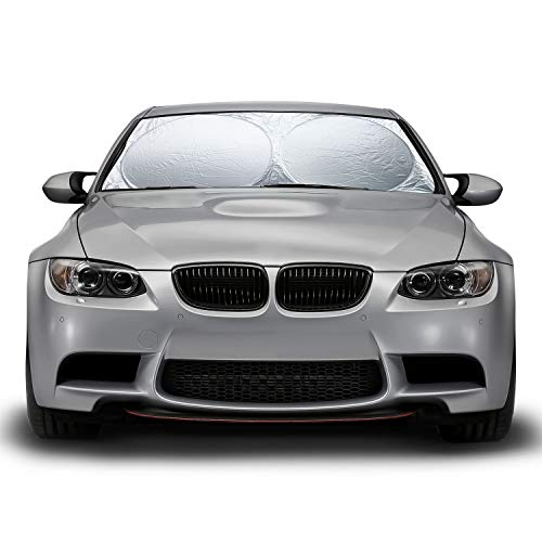 OxGord Front Windshield Sun-Shade for Car - Collapsible & Foldable...