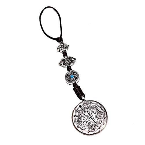 chiwanji Buddhismus Acht Trigramme Amulett Anhänger Autoanhänger aus Kupfer, Silber