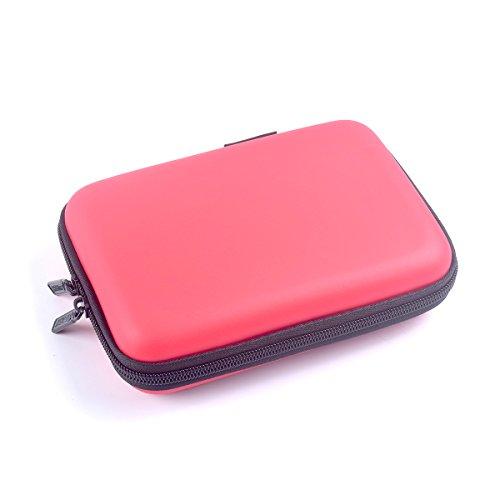 Cocar Starke Tragetasche Reisetasche für Mini DLP Pico Projektor und Zubehör Organizer Multifunktions - Rot