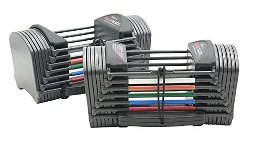POWERBLOCK Sport 24 Adjustable Dumbbells, Grey, 24...
