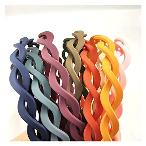 JJYGWBTS Banda para el Cabello Aleatorio 8 Twist Woven Colorful DeeDebands 1.5cm Hairband Ondulado para niñas (Color : 8 Random)