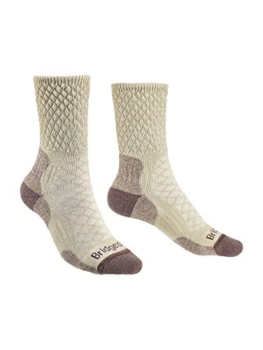 Bridgedale Leichte Damen-Socken aus Merinowolle, Größe M, sandfarben