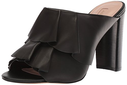 Avec Les Filles Women's Mallory Heeled Sandal, Black Nappa, 8.5 M US