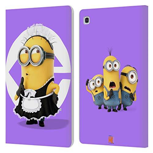Officiële Despicable Me Bob meid kostuum Minions Lederen Book Portemonnee Cover Compatibel voor Samsung Galaxy Tab S5e