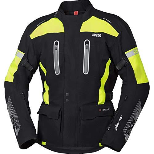 IXS Motorradjacke mit Protektoren Motorrad Jacke Pacora-ST Textiljacke schwarz/Neongelb 4XL, Herren, Tourer, Ganzjährig, Polyamid