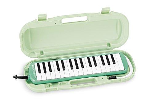 SUZUKI スズキ 鍵盤ハーモニカ メロディオン アルト 32鍵 パステルグリーン MXA-32G 軽量本体 ハードケース