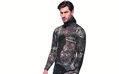 SEAC Men's Kama 5mm Wetsuit Jacket, Brown Camouflage, XX-Large