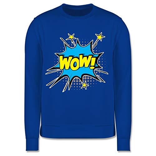 Shirtracer Karneval & Fasching Kinder - Popart Karneval Kostüm Wow! - 116 (5/6 Jahre) - Royalblau - Verkleidung Kostüm - JH030K - Kinder Pullover