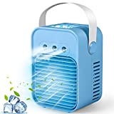 Portable Air Conditioner, Personal Air Cooler, Evaporative Cooler Air Humidifier, Humidifier Misting Fan, 3 Wind Speed Desktop Air Conditioner Fan for Home, Office, Room