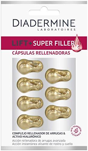 Diadermine Lift Plus, Cápsulas Super Rellenador, Acción de Relleno de Arrugas, para Pieles Maduras, 7 Unidades