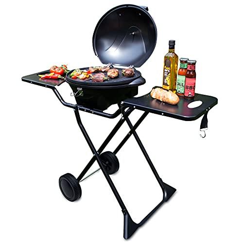 SUNTEC Barbecue elettrico BBQ-9295 [utilizzabile come griglia da tavolo, incl. 2 ripiani, termostato regolabile, max. 2400 W]
