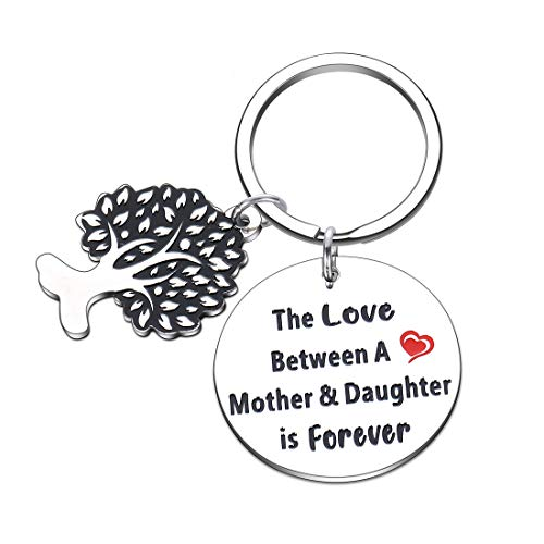 Mothers Day Gifts for mom from Daughter Birthday Keychain Gift for Mother of The Bride Stepmother The Love Between A Mother and Daughter is Forever Mother�s Day Present for Mama Mum