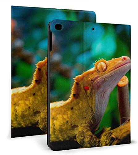 Reptile Gecko Lizard Amazing PU Funda Inteligente de Cuero Función de Reposo / activación automática para iPad Air 1/2 9,7 'Funda