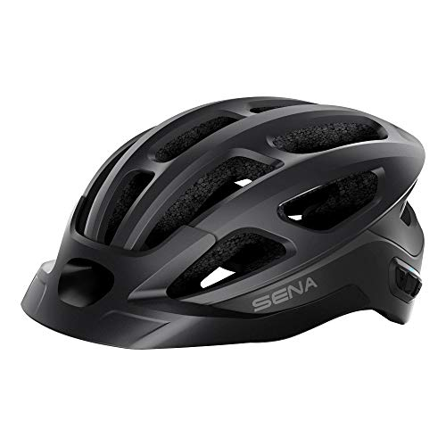 Sena R1 EVO Smart Helmet para Ciclismo (Negro Mate, Tallas L), Certificado CE