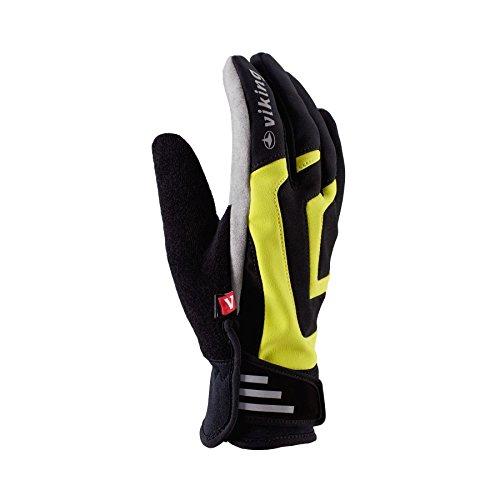 VIKING Alesund Sporthandschuhe Rad Jogging Langlauf Nordic Walking Handschuhe - schwarzgelb, 8