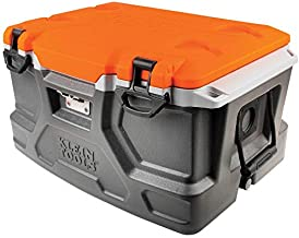 Klein Tools 55650 Lunch Box / Cooler, 48 Qt Insulated Cooler, Holds 72 Cans, Keeps Cool 30 Hours, Seats 300 Lb, Tradesman Pro Tough Box