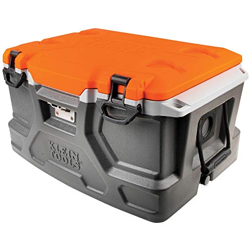 Klein Tools 55650 Lunch Box / Cooler, 48 Qt Insulated Cooler, Holds 72 Cans, Keeps Cool 30 Hours,...