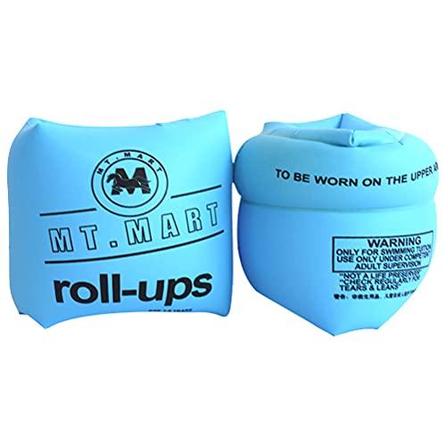Swetup Braccioli galleggianti per il nuoto, con maniche galleggianti, per bambini e adulti (blu)