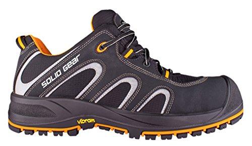 /Zapatos de seguridad S3/talla 42/NEGRO//NARANJA Solid Gear sg7300142/Griffin/