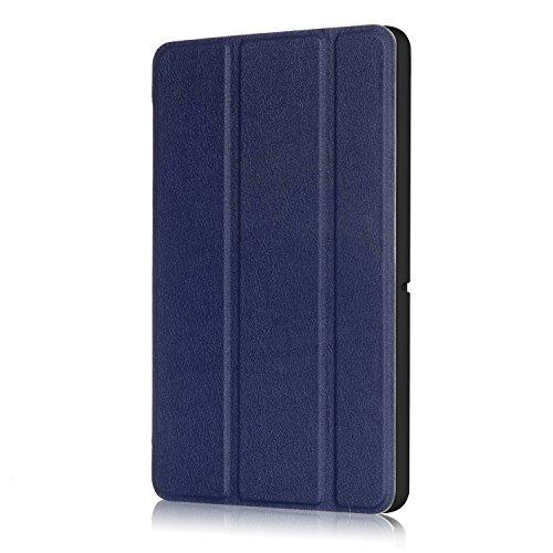 Xuanbeier Huawei MediaPad T3 10 Hülle Hülle-Ultra Dünn & Leicht PU Leder Schutzhülle Cover für Huawei MediaPad T3 10(9,6 Zoll)(Dunkelblau)