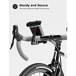 "Lamicall Soporte Movil Bicicleta, Soporte Motocicleta - Universal Rotación 360°Soporte Manillar para Phone 11 Pro MAX, XS MAX, XR, X, 8, 7, 6S, Samsung S10 S9 S8 S7, Huawei, 4.7-6.8"" Smartphones"