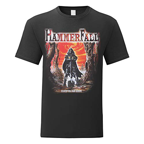 LaMAGLIERIA Herren-T-Shirt HammerFall Glory to The Brave - 100% Baumwolle, L, Schwarz