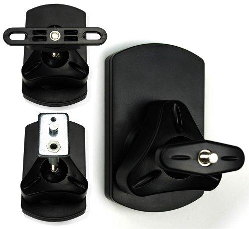 2 x Kugelgelenk-Wandhalterung für Boxen | Typ SB-38 | Keyhole-Montage, M4+M5+M6-Gewinde
