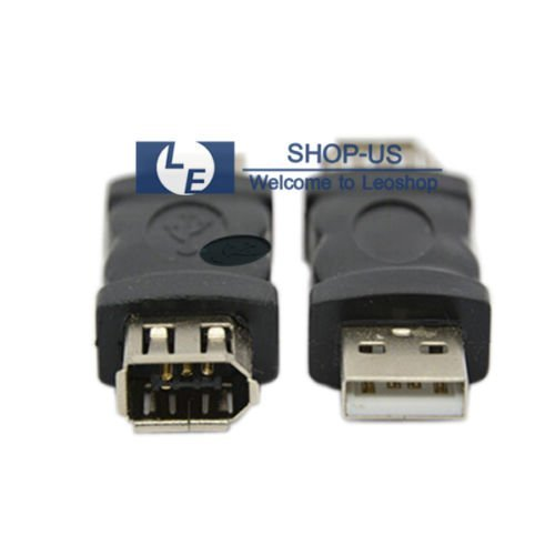 NEW Firewire IEEE 1394 6 Pin Female F to USB M male Adaptor Converter