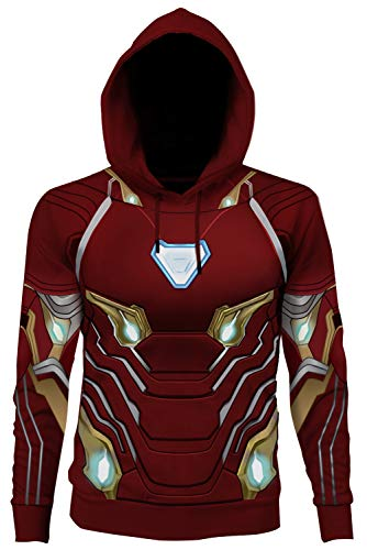 Signori Porta da Stampare Giacca Camicia del Maglione Outwear Felpe Jumper Avengers: Endgame Iron Man