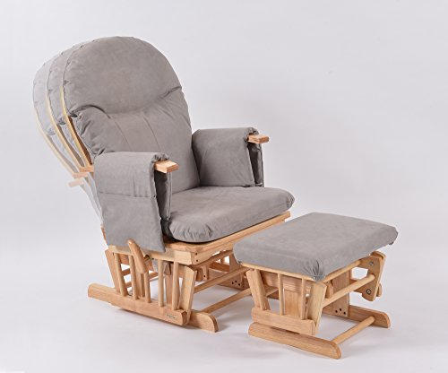 Habebe Glider Rocking Nursing Recliner Maternity Chair with footstool ***WITH BRAKE + WASHABLE COVERS***