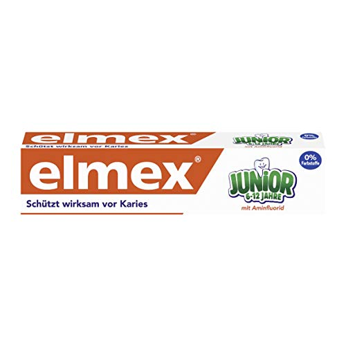 elmex JUNIOR Zahnpasta, 6-12 Jahre, 6er Pack, (6 x 75 ml)