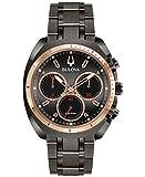 Bulova Herren Chronograph Quarz Uhr mit Edelstahl Armband 98A158