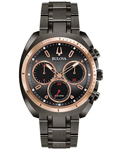 Bulova herenhorloge chronograaf kwarts horloge met roestvrij stalen armband 98A158