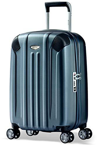 Eminent Bagaglio a mano Boulder 55cm 40L Valigia cabina ultra leggera 4 Ruote doppie silenziose Protezione addizionale dei bordi & Lucchetto TSA Grafite