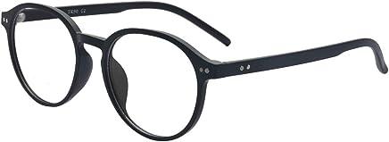 ALWAYSUV Black Round TR90 Full Frame Nearsighted Shortsighted Myopia Glasses For Men Women