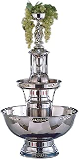 Buffet Enhancements 1BMFDC7SS Stainless Steel Champagne Fountain with Silver Trim, 7 Gallon
