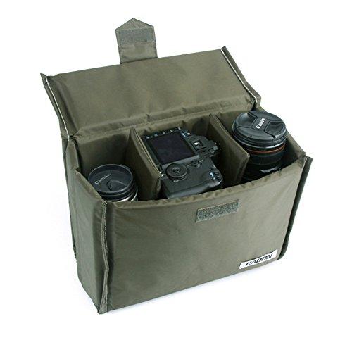 DRF Custodia Morbida per Fotocamera Reflex DSLR TLR FLASH antiurto protezione Inserto per DSLR Colore Verde SKU:BG-0169 (S)