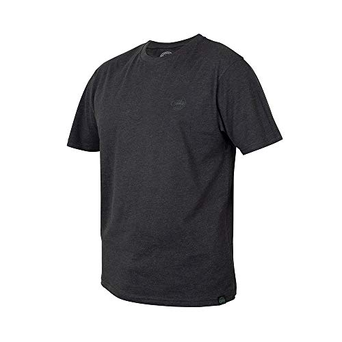 Fox CHUNK black marl T-Shirt - Angelshirt, Größe:XXL