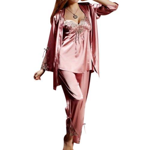Amybria Luxury Silk Blend One Set Lady'S Sleepwear/Sleepcoat/Pajamas