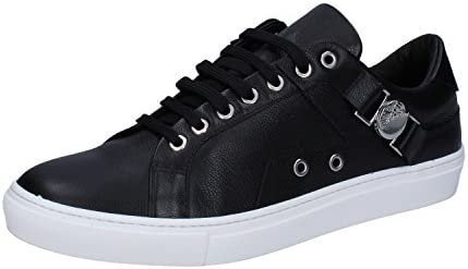 Versace Collection V900597 Leather Round Toe Black Trainer 8 product image