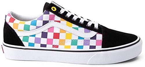 Vans Unisex Authentic Skate Shoe Sneaker (7.5 Women/6 Men, Rainbow Chex 7429)