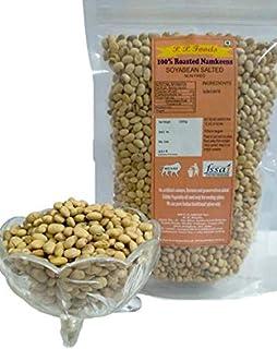 P P Foods Roasted Soyabean Salted/ SOYA Nuts/ Healthy Snacks/ Diet Snacks 200gm