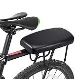 GW Asiento Trasero de la Bicicleta 1.4 Pulgadas Bicicleta Bicicleta Pasamanos Trasero Apoyabrazos Acero y PU Portabebés Bicicleta Asiento Trasero de la Bicicleta
