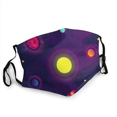 ocaohuahuaba Unisex-Cartoon-Raum mit kleinen Planeten des Raumfahrzeugs 15 cm * 20 cm Anti-Staub-Abdeckung Gesichts-Mund-Abdeckung, Wiederverwendbare waschbare Outdoor-Unisex-Abdeckung